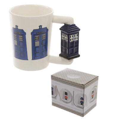 Police Box Handle The Doctor Novelty Coffee Mug Cup Retro New In Gift Box • 8.95£