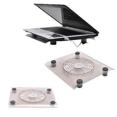 10-13  External USB Laptop Notebook Cooling Cooler Fan Pad Tray Stand Blue Light • 9.95£