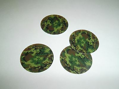 £10.96 • Buy Pre Cut One Inch Bottle Cap Images Camo Military  Free Shipping