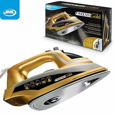 View Details JML Phoenix Gold Ceramic Plate Iron Vertical Steam Generator Garment Steamer • 34.99£