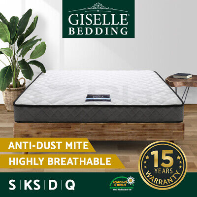 AU129.90 • Buy Giselle Mattress QUEEN KING SINGLE DOUBLE Bed Mattresses Spring Firm Foam 16cm