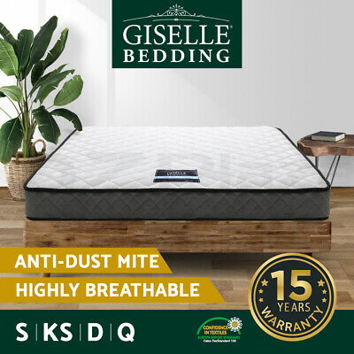 AU139 • Buy Giselle QUEEN KING SINGLE DOUBLE Mattress Bed Bonnell Spring Firm Foam 16cm