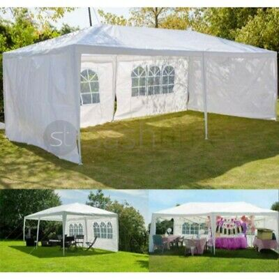 Gazebo Marquee Party Tent With Sides Waterproof Garden Patio Outdoor Canopy 3x6m • 79.95£