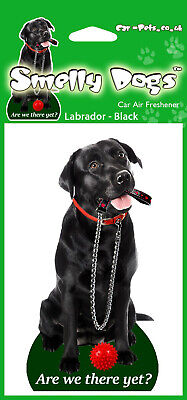 £4.90 • Buy 2 X Labrador Black With Lead Fragrant Air Freshener - Perfect Gift