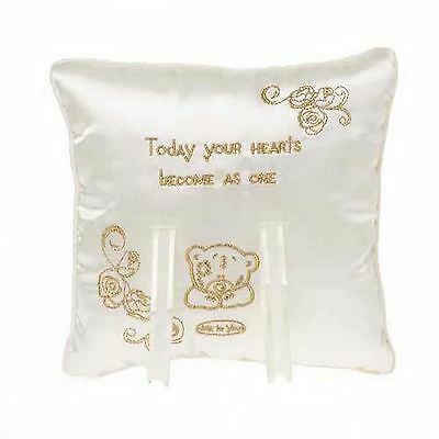 £8.99 • Buy Me To You Bear Ring Cushion Engagement Bridal Wedding Pillow Romantic Gifts