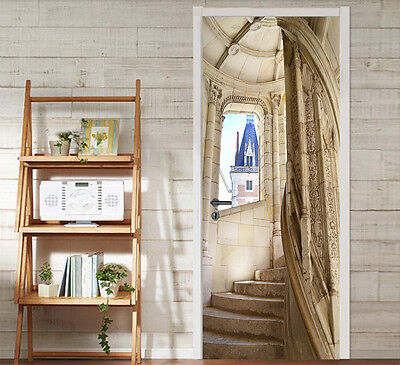 £101.80 • Buy 3D Stairs Castle Door Wall Mural Photo Wall Sticker Decal Wall AJ WALLPAPER US