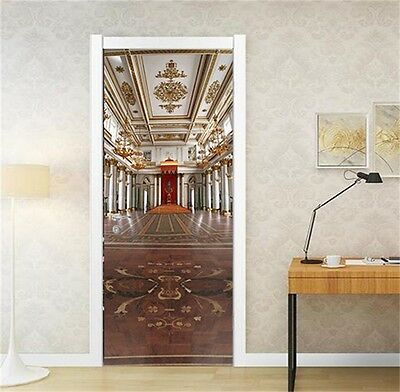 £159.98 • Buy 3D Ground Carving Door Wall Mural Photo Wall Sticker Decal Wall AJ WALLPAPER US