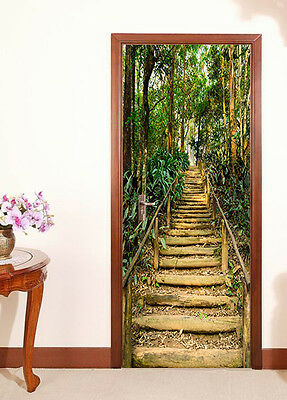 £145.43 • Buy 3D Stairs Forest Door Wall Mural Photo Wall Sticker Decal Wall AJ WALLPAPER US