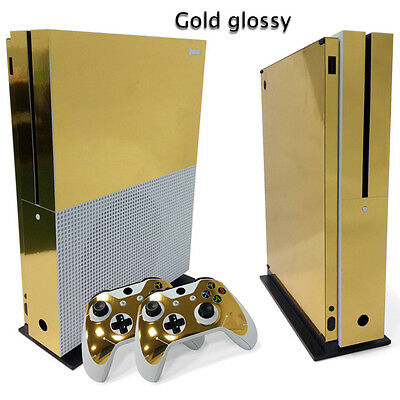 $14.39 • Buy Xbox One S Gold Glossy Console & 2 Controllers Decal Vinyl Skin Wrap