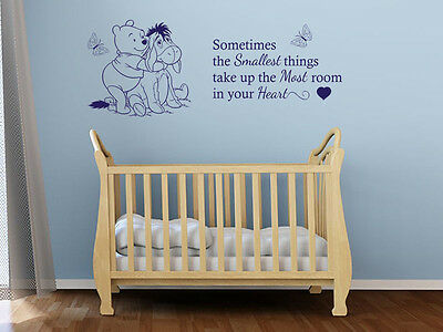 £14.95 • Buy Child's Bedroom Or Nursery  Sometimes The Smallest Things...  Vinyl Wall Quote