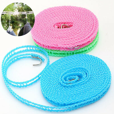 5M Non-slip Nylon Washing Clothesline Outdoor Travel Camping Clothes Line Rope • 4.99£