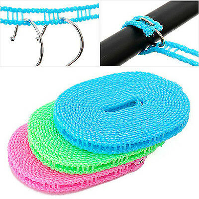3M Washing Clothesline Outdoor Travel Camping Clothes Line Rope Non-slip Nylon  • 3.75£