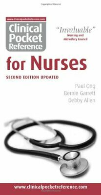 Clinical Pocket Reference For Nurses By Bernie Garrett Spiral Bound Book The • 9.99£