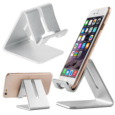 $4.99 • Buy Universal Cell Phone Tablet Desktop Stand Desk Holder Mount Cradle Aluminium