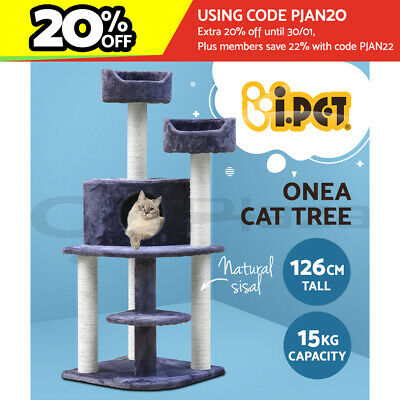 AU104.90 • Buy I.Pet Cat Tree Trees Scratching Post Scratcher Tower Condo House Furniture Wood