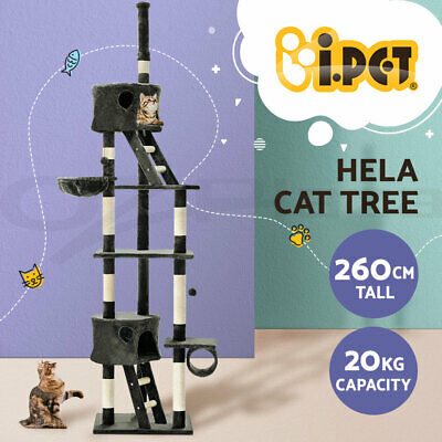AU69.90 • Buy I.Pet Cat Tree Trees Scratching Post Scratcher Tower Condo House Grey 260cm