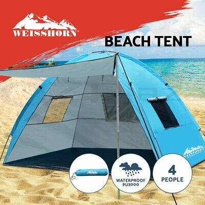AU46.95 • Buy Weisshorn Camping Tent Beach Tents Hiking Sun Shade Shelter Fishing 2-4 Person