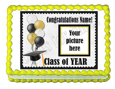 Custom Graduation Edible Party Decoration Cake Topper Decoration Frosting Sheet  • 6.71£