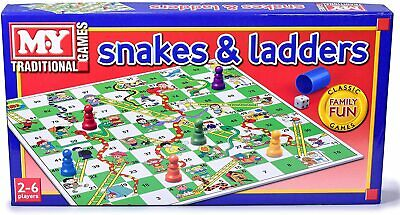 £6.69 • Buy Family Kids Snakes And Ladders Board Game Traditional Children Games Play Set