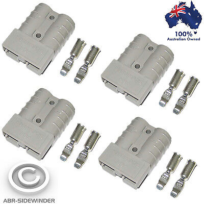 AU12.50 • Buy 4x Anderson Plugs 50 Amp 'grey'