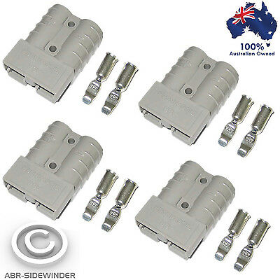 AU10.95 • Buy 4x Anderson Plugs 50 Amp 'grey'