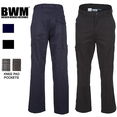 £14 • Buy Mens Cargo Combat Work Trousers With Knee Pad Pockets Size 28 To 52 By BWM