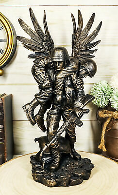 $65.99 • Buy Marine Guardian Angel Military Soldier Carrying A Wounded Brother Statue 13 H