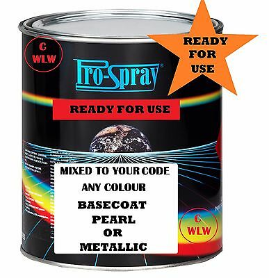 £19.99 • Buy 1 Lt Ready For Use Basecoat Colour Mixed To Code Car Paint Ready For Spray Gun