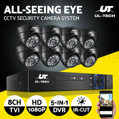 AU225.90 • Buy UL-tech CCTV Camera Home Security System 8CH DVR 1080P  IP Long Range