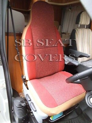 I-TO FIT PEUGEOT BOXER 2003 MOTORHOME SEAT COVERS, TERRACOTTA SUEDE MH-192 • 79.99£