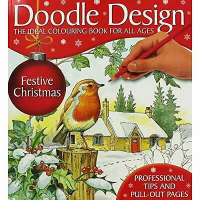 Hollands Publishing DOODLE DESIGNS FESTIVE CHRISTMAS Book The Cheap Fast Free • 5.99£