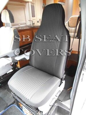 I-TO FIT FIAT DUCATO 2009 MOTORHOME SEAT COVERS, BLACK BELINDA MH-190 • 79.99£