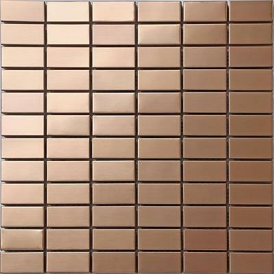 Copper Effect Stainless Steel Mosaic Wall Tiles Sheet 300x300x8mm (MT0105) • 7.99£