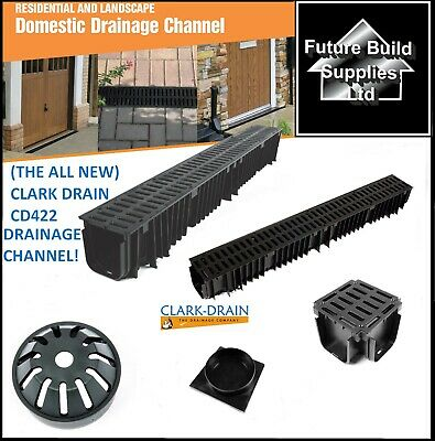 £16.50 • Buy  New Style Heavy Duty A15 PVC Channel Drainage Grating 1m Length Clark Drain