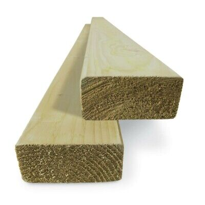 £161.84 • Buy 4 X 2 Timber (47 X 100mm) C16 Sawn Treated Timber - Multi Lengths & Quantities