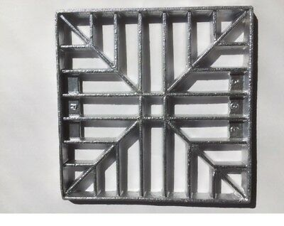 £7.95 • Buy 154mm (6 ) Square Metal Alloy Gully Grid Grate Drain Cover No Rust Man Hole