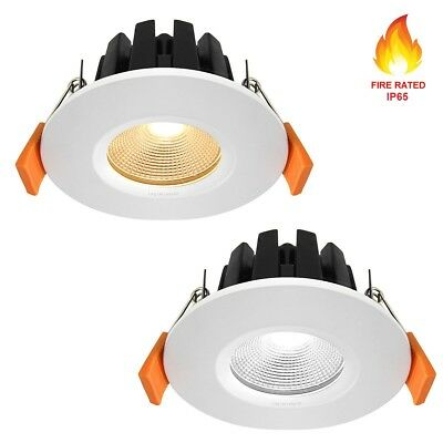 Fire Rated LED Downlight Recessed Ceiling Spotlights Kitchen Lights IP65 6W • 8.99£