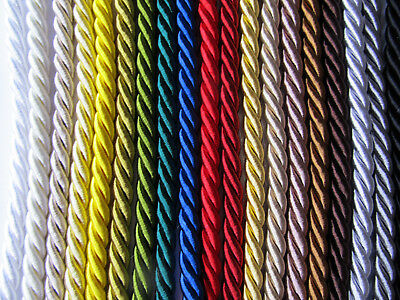 8mm THICK SILKY FURNISHING CORD High Quality Piping For Cushions & Upholstery • 1.85£