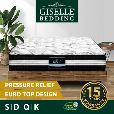 AU139.90 • Buy Giselle Mattress Queen King Single Double Bed Tight Top Pocket Spring Foam 30cm