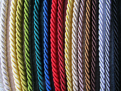 8mm THICK SILKY FLANGED FURNISHING CORD Quality Piping For Upholstery & Cushions • 2.75£