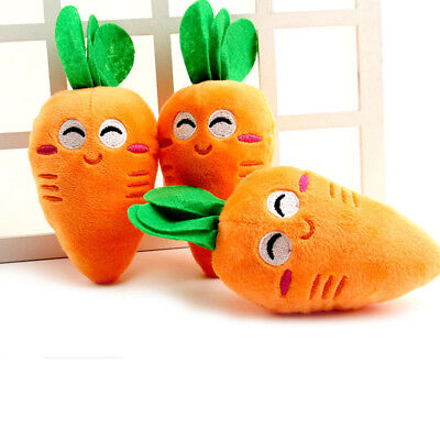 AU1.42 • Buy Orange Puppy Pet Supplies Carrot Plush Chew Squeaker Sound Squeaky Dog Toys Gift