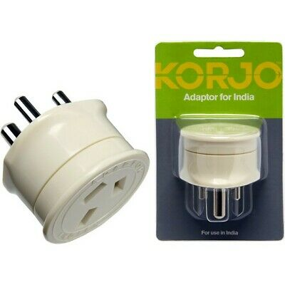 AU16.82 • Buy Korjo Aust. To India Travel Adaptor For Australia 240v Plug- Fit26 Kain