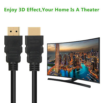 $ CDN8.99 • Buy Premium HDMI Cable 1.5ft 6ft 10ft 15ft 25ft 30ft 50ft 75ft 100ft Gold For HD TV