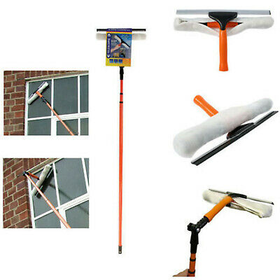 3.5m Telescopic Conservatory Window Glass Cleaning Cleaner Kit With Squeegee New • 14.95£