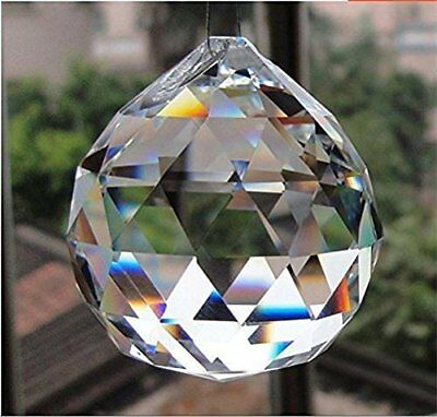 $6.45 • Buy Sun Catcher - Crystal Glass Faceted Prism - Clear 30 Mm 1.2  - USA Seller