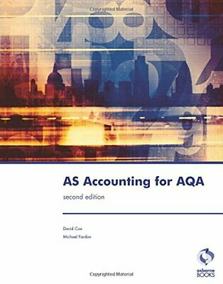 £9.87 • Buy AS Accounting For AQA (Accounting & Finance) By Fardon, Michael Paperback Book
