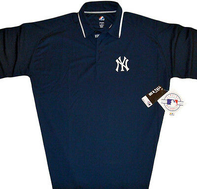 487b5dccd New York Yankees Majestic MLB Men's Polo Shirt Navy Blue Big & Tall Sizes  NWT •