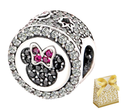 Silver Sterling Disney Mickey Minnie Mouse Charm Fit Branded Bracelet+gift Box • 9.95£