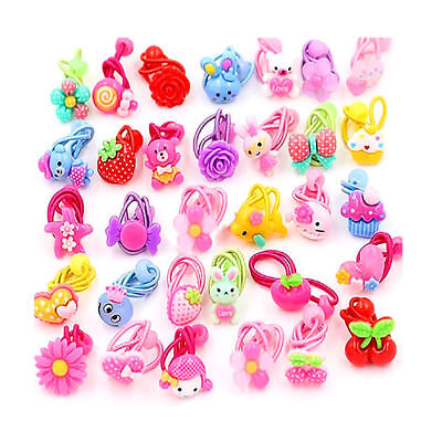 10PCS Lot Elastic Rope Ring Hairband Kids Candy Color Hair Band Ponytail Holder • 1.13$