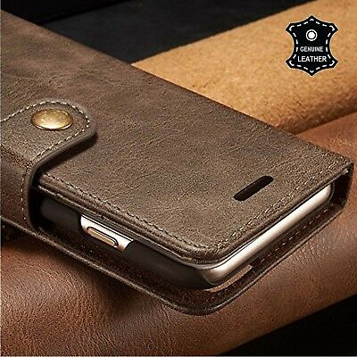 $ CDN19.99 • Buy For Apple IPhone 8 7 6 6s Plus Genuine Leather Folio Flip Wallet Slim Case Cover